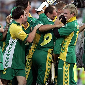Winning of south africa cricket team